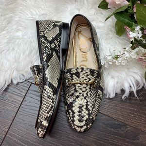 Sam Edelman | Loraine Snake Print Leather Loafers